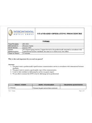 [SOP] Intercontinental Group - Business Center - Typing