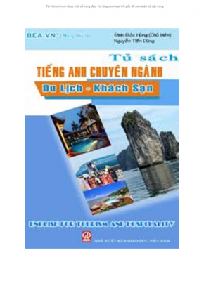 Ebook English for Tourism