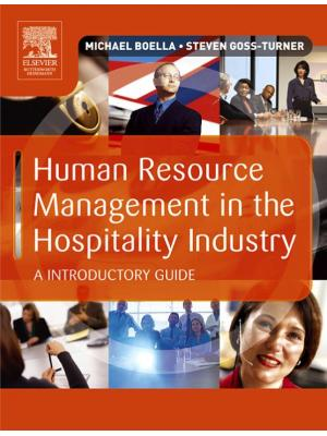 Human Resource Management in the Hospitality Industry, Eighth Edition: An Introductory Guide